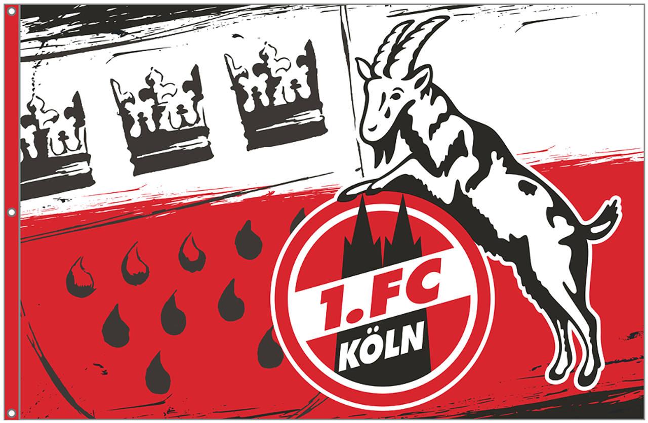 1. FC Köln Hissflagge Wappen mittel