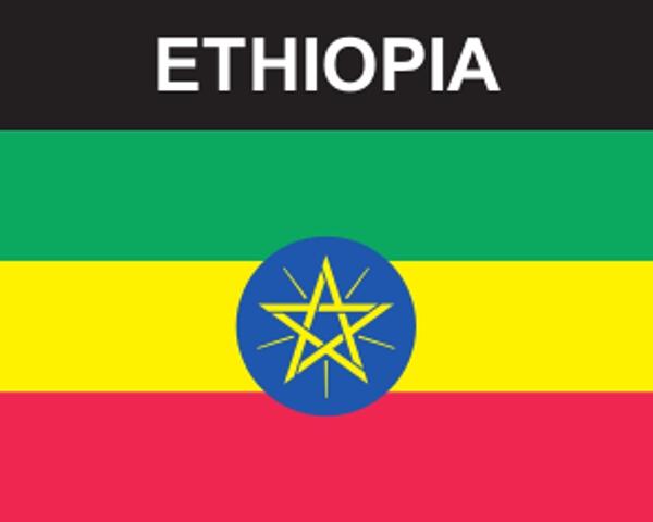 Flaggenaufkleber Äthiopien