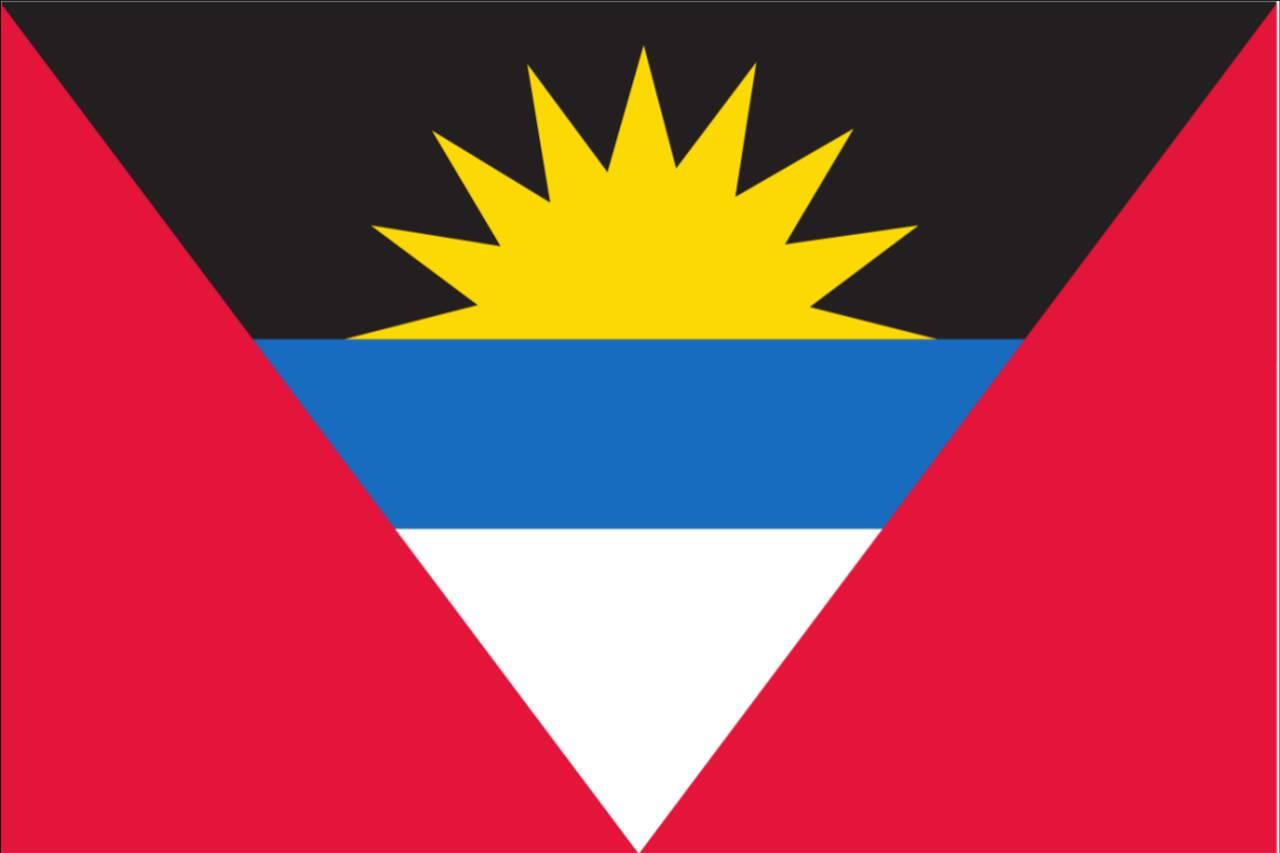 Flagge Antigua und Barbuda 160 g/m² Querformat