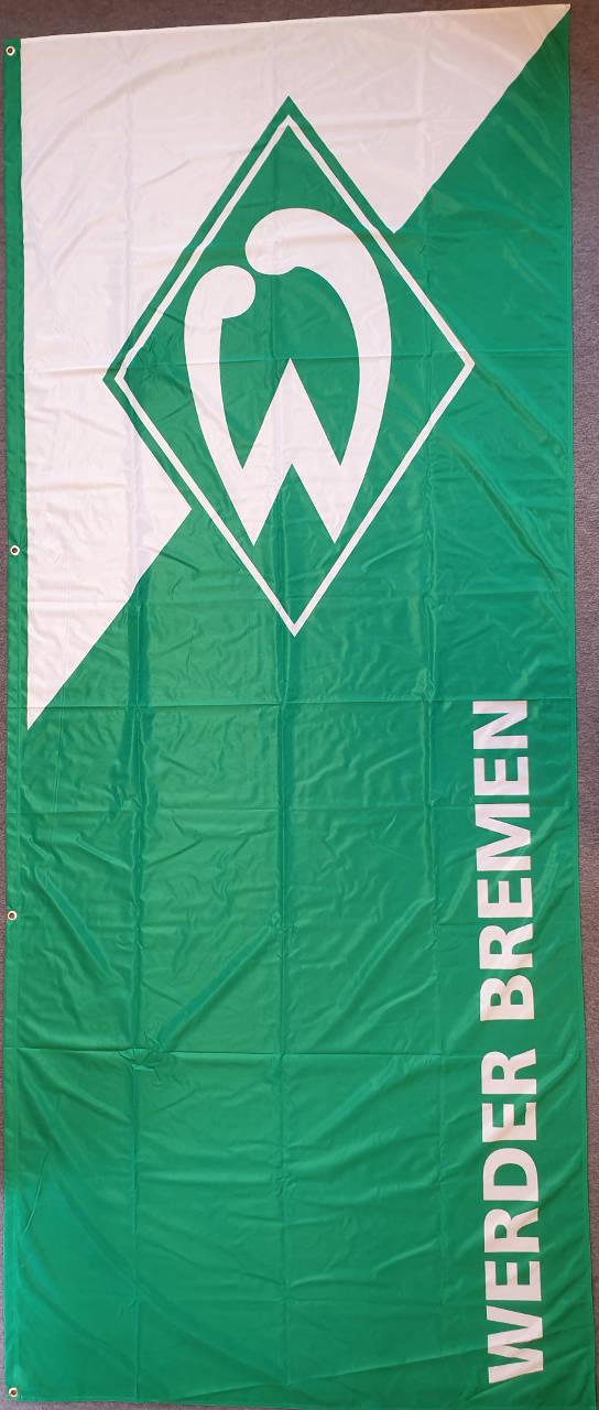 Werder Bremen Hissflagge grün-weiß Hochformat