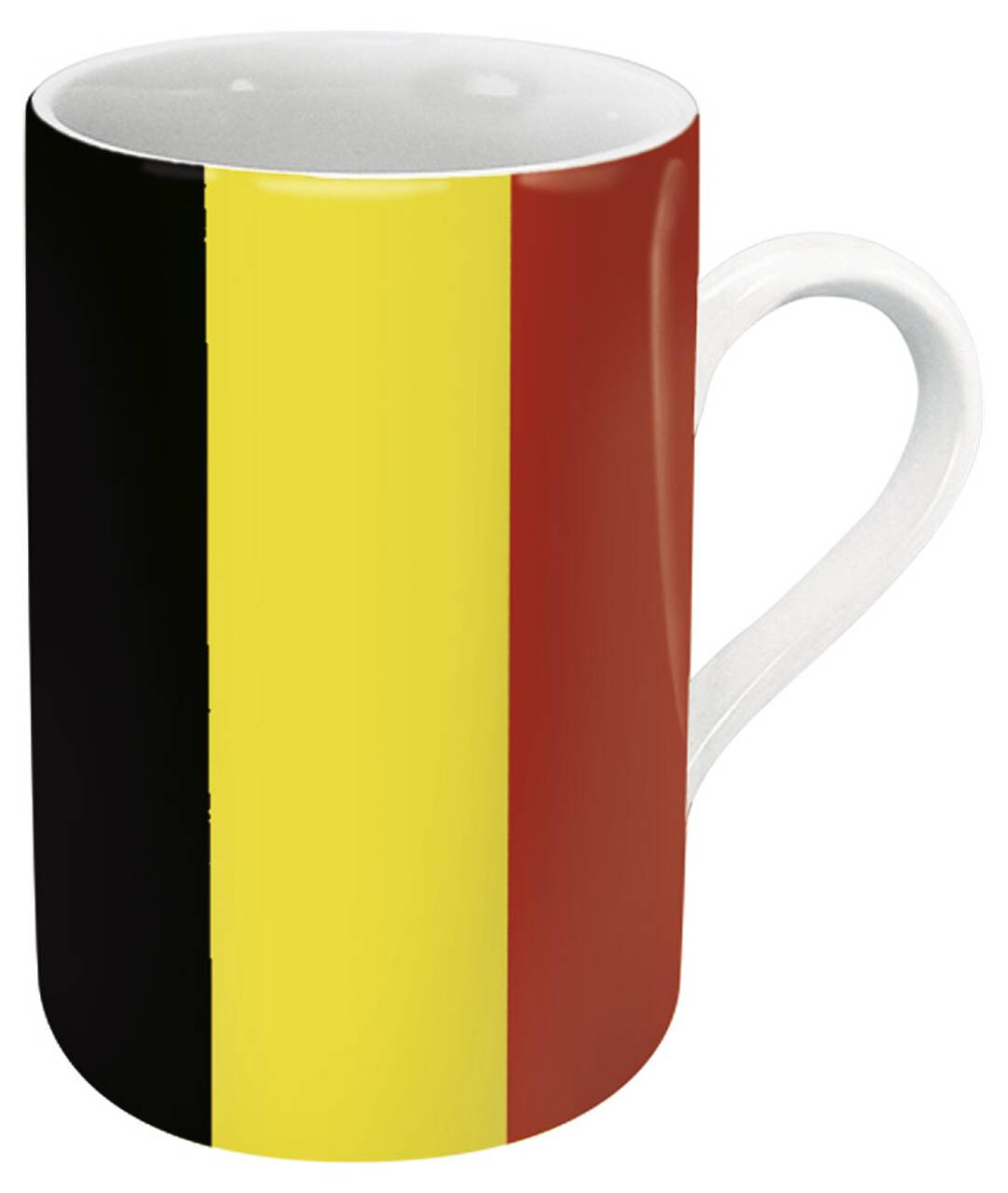 Kaffeebecher mit Motiv Belgienflagge