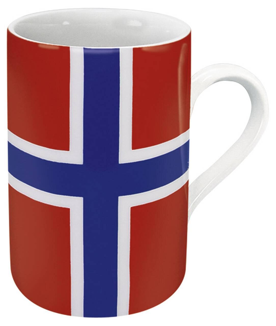 Kaffeebecher mit Motiv Norwegenflagge