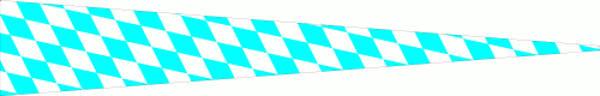Wimpel Bayern kleine Rauten 80 g/m²