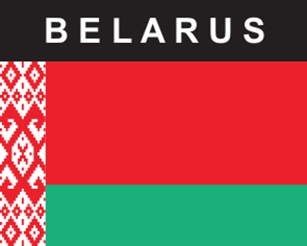 Flaggenaufkleber Belarus