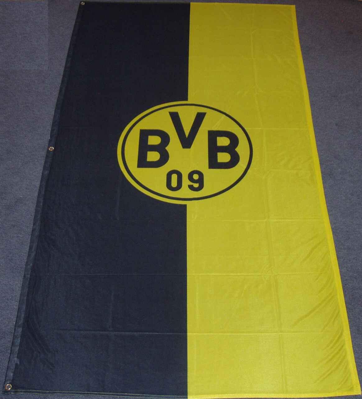 Borussia Dortmund Hissflagge Emblem groß