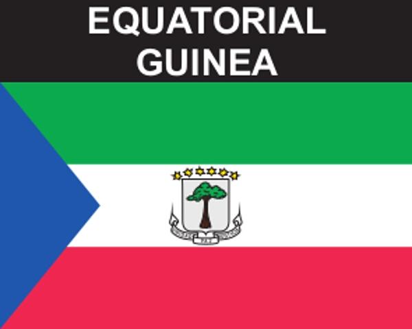 Flaggenaufkleber Äquatorialguinea
