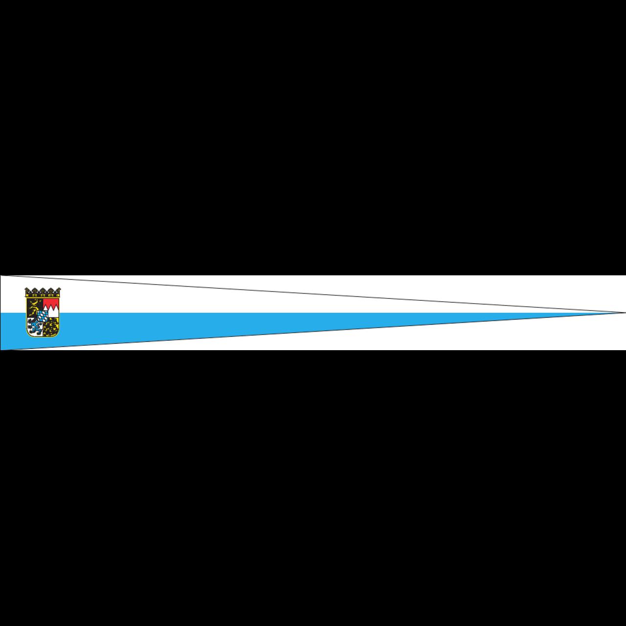 Wimpel Bayern Streifen mit Wappen 160 g/m²