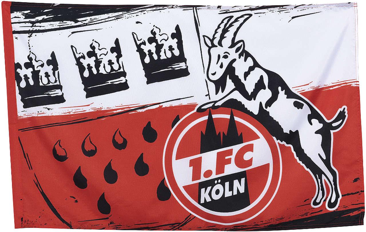 1. FC Köln Schwenkflagge Wappen groß