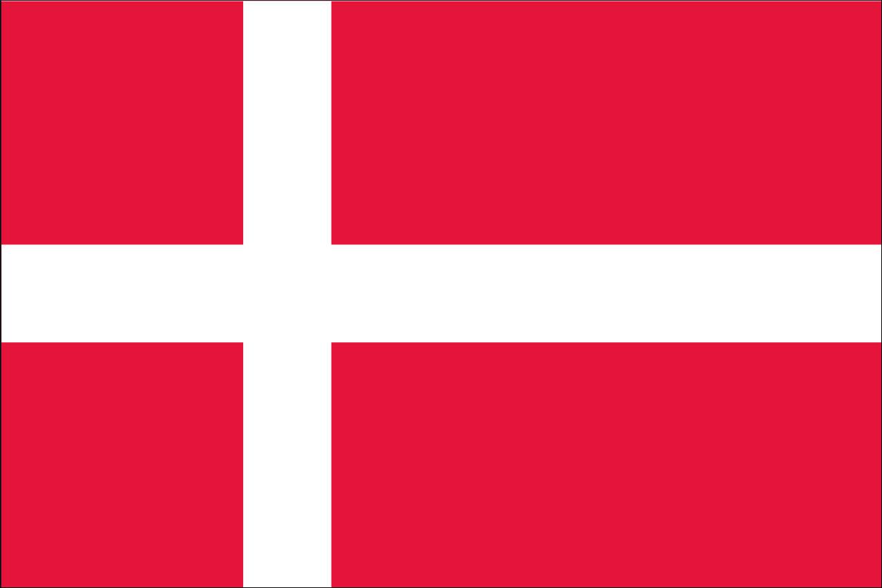 Flagge Dänemark 160 g/m² Querformat