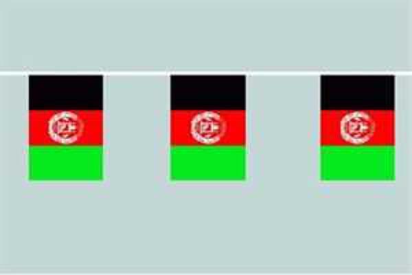 Flaggenkette Afghanistan 6 m 8 Flaggen