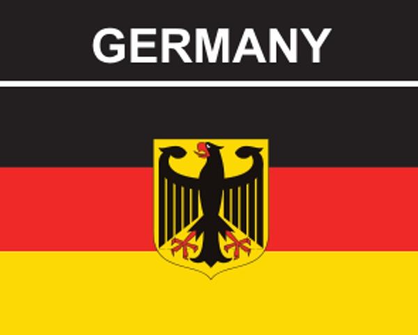 Flaggenaufkleber Deutschland mit Adler