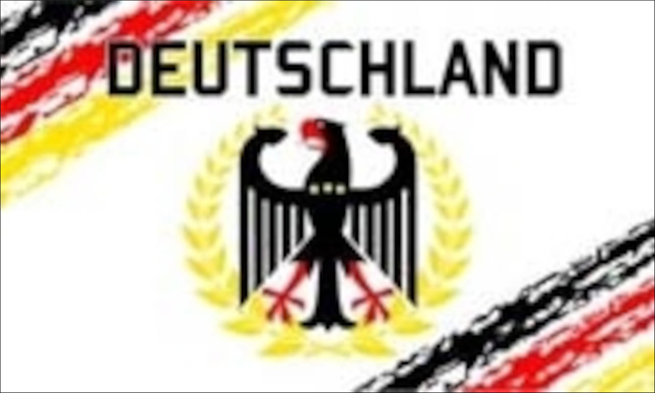 Flagge Deutschland weiß 80 g/m²