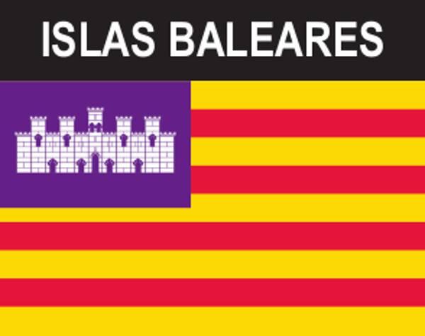 Flaggenaufkleber Balearen