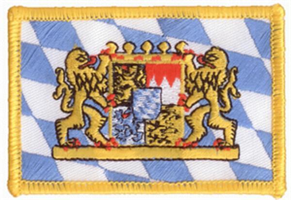 Flaggenaufnäher Bayern mit Löwen