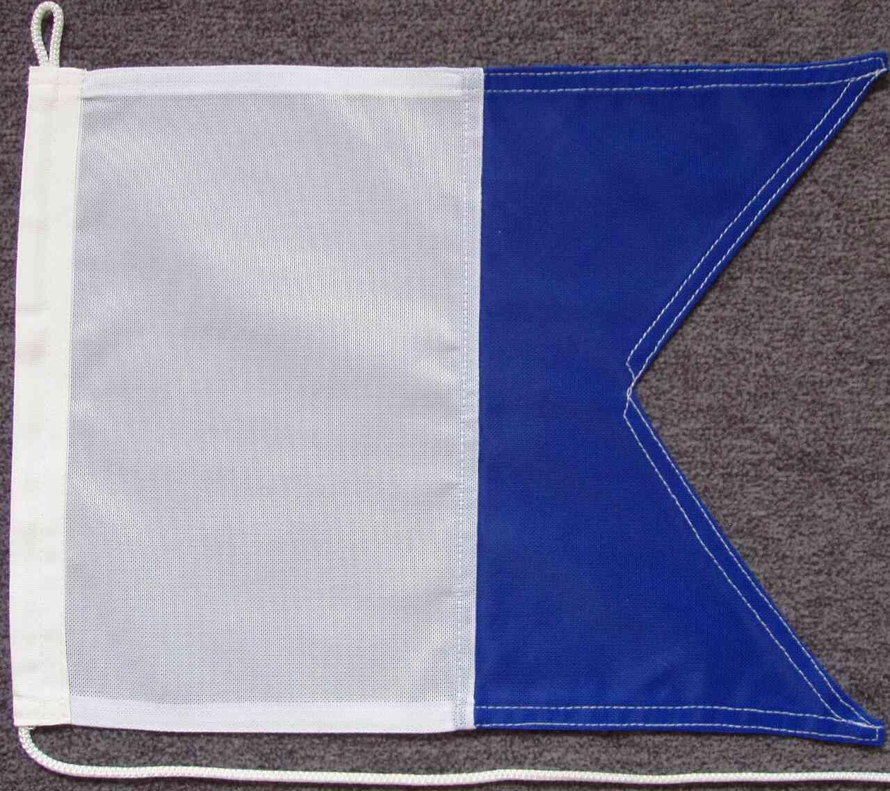 Signalflagge A - Alfa