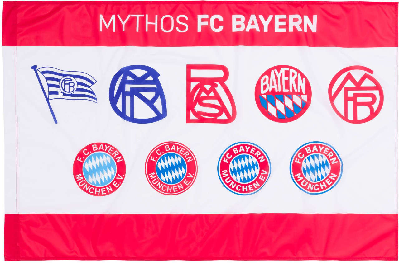 FC Bayern München Schwenkflagge Logo Historie