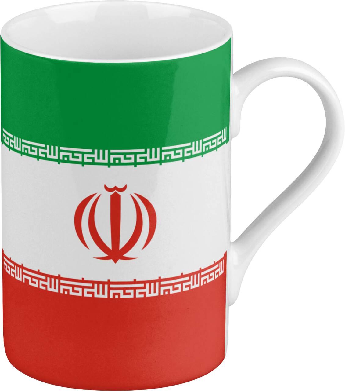 Kaffeebecher mit Motiv Iranflagge