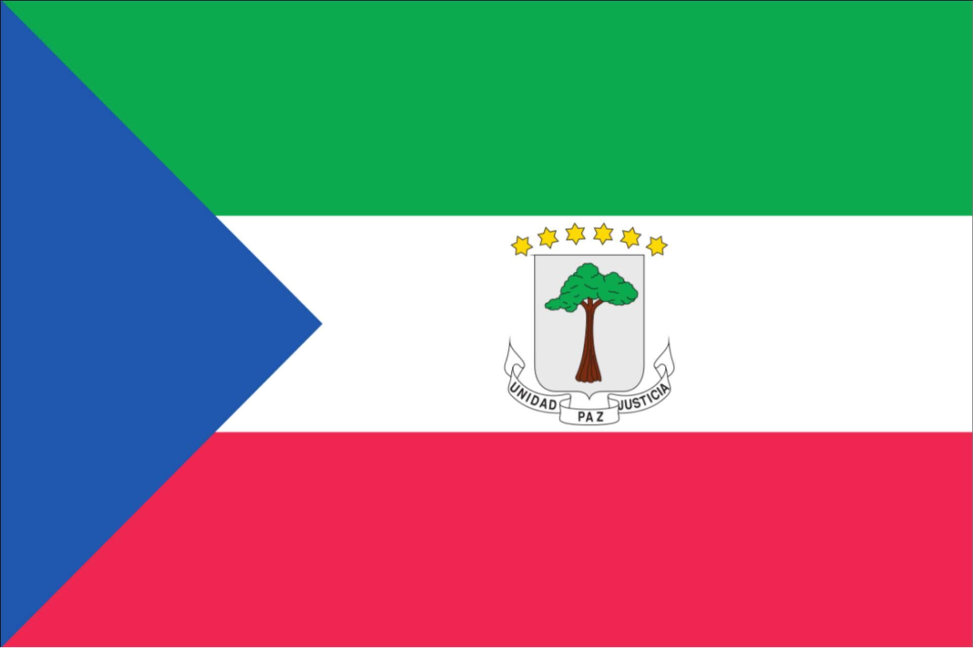 Flagge Äquatorialguinea 160 g/m² Querformat