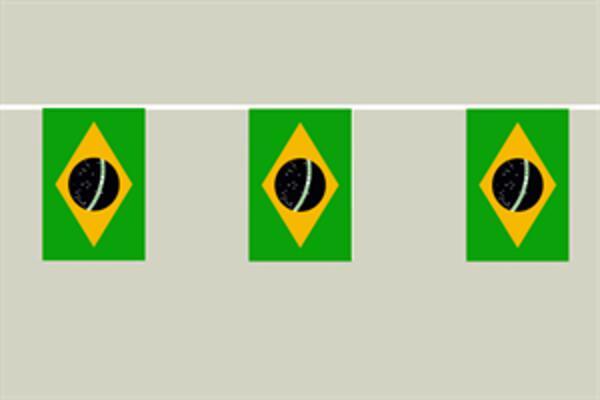 Flaggenkette Brasilien 6 m 8 Flaggen