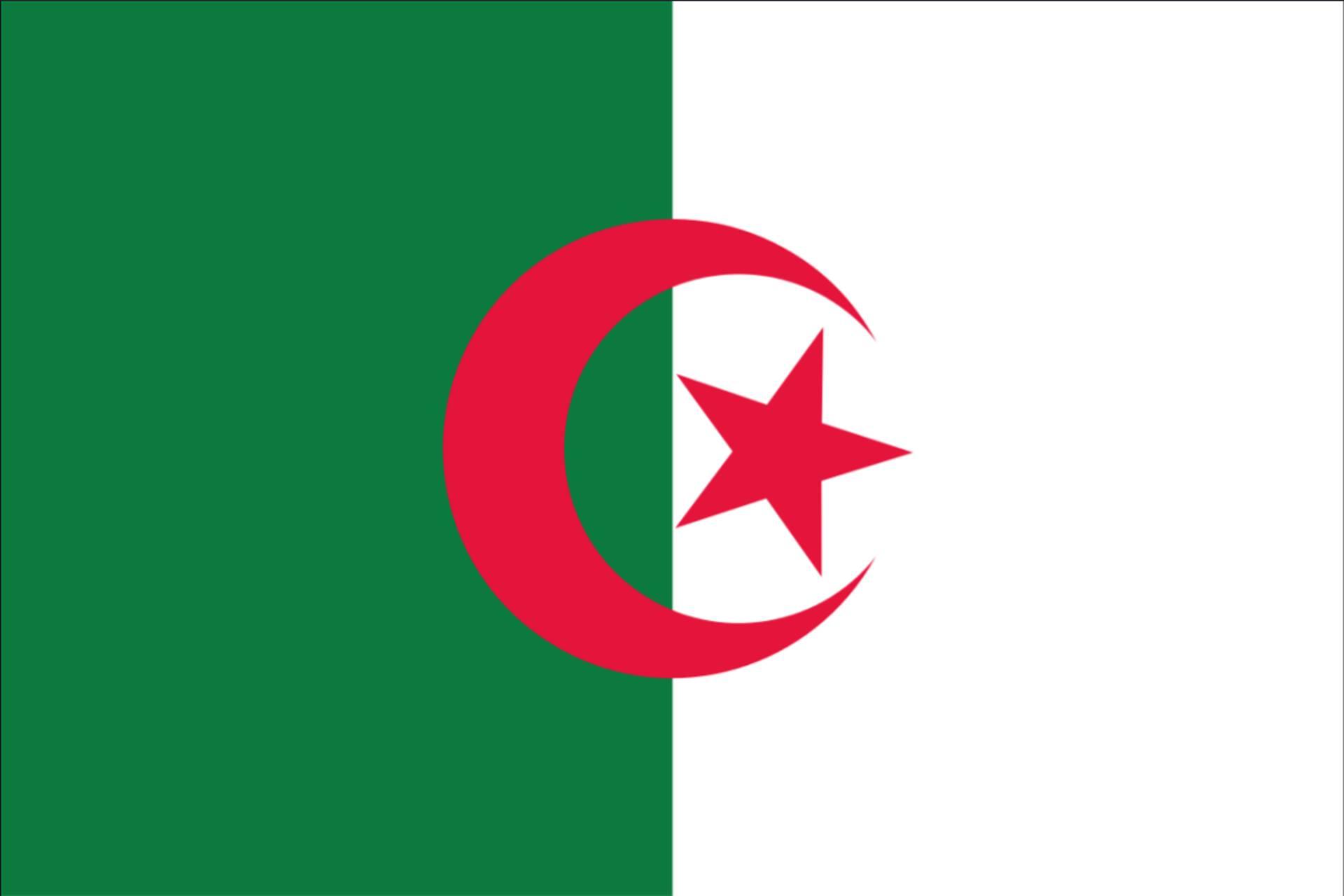 Flagge Algerien 160 g/m² Querformat