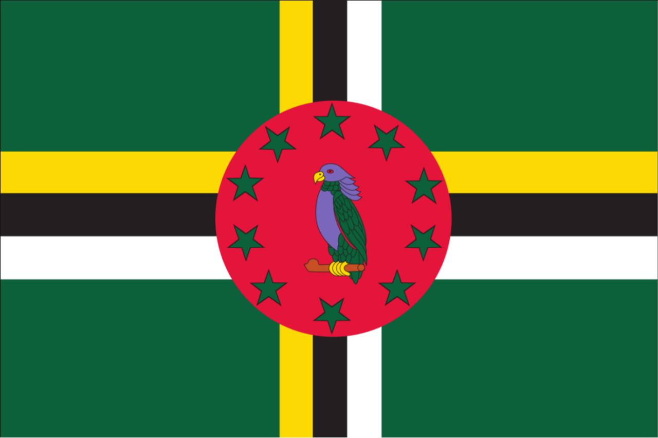 Flagge Dominica 120 g/m² Querformat