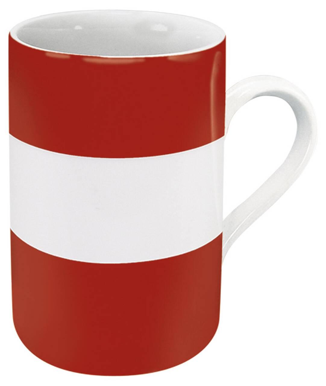 Kaffeebecher mit Motiv Österreichflagge
