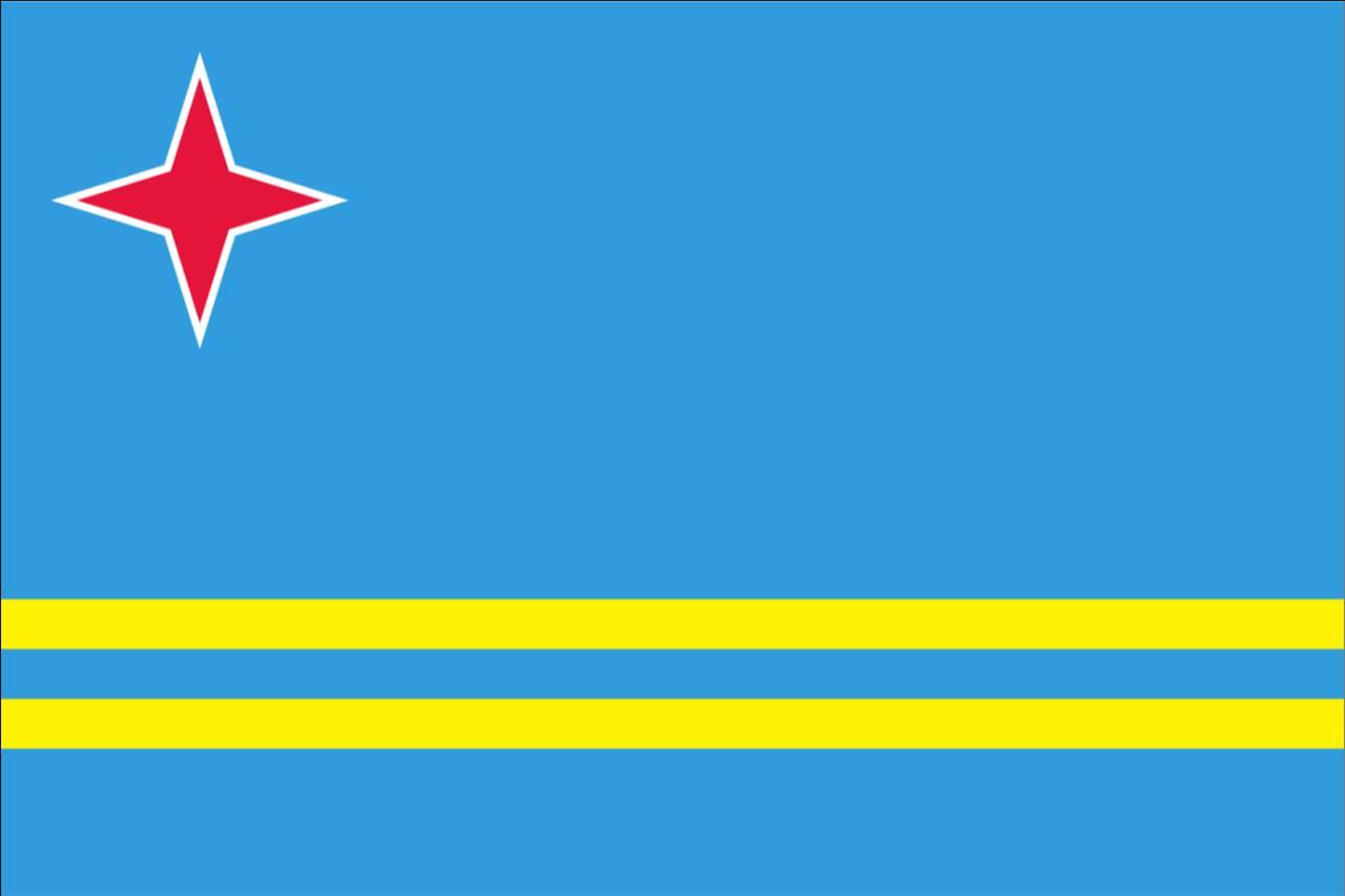 Flagge Aruba 120 g/m² Querformat