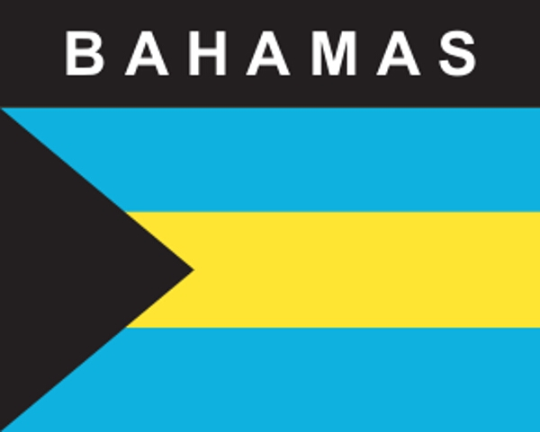 Flaggenaufkleber Bahamas