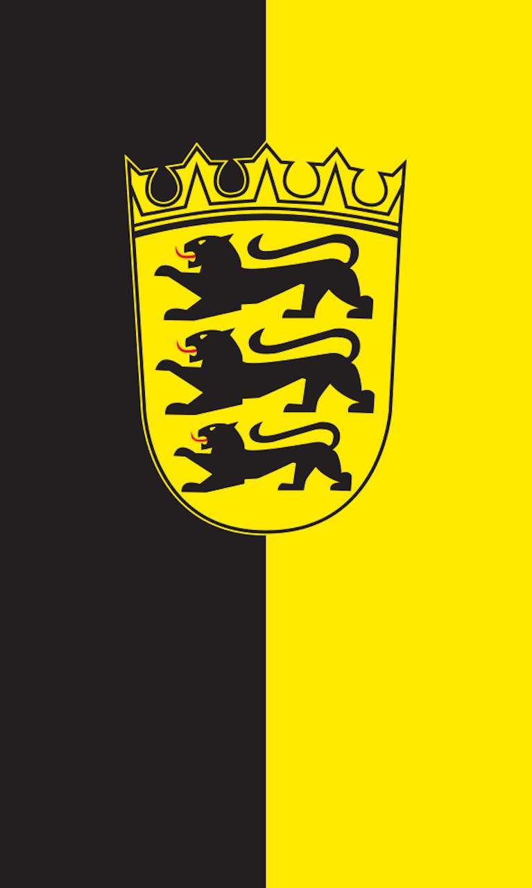 Tischbanner Baden-Württemberg mit Wappen