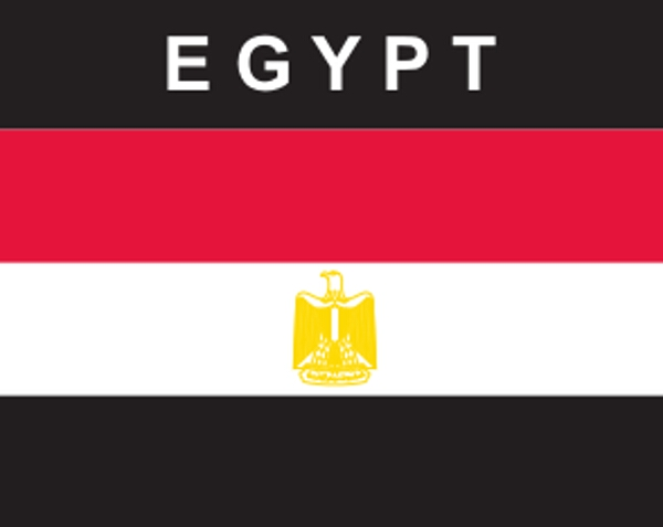 Flaggenaufkleber Ägypten