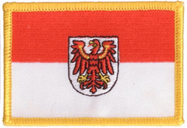 Flaggenaufnäher Brandenburg