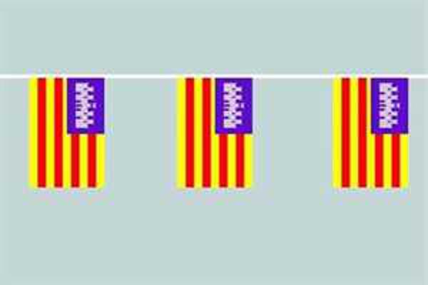 Flaggenkette Balearen 6 m 8 Flaggen