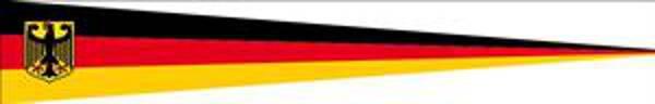 Wimpel Deutschland mit Adler 80 g/m²