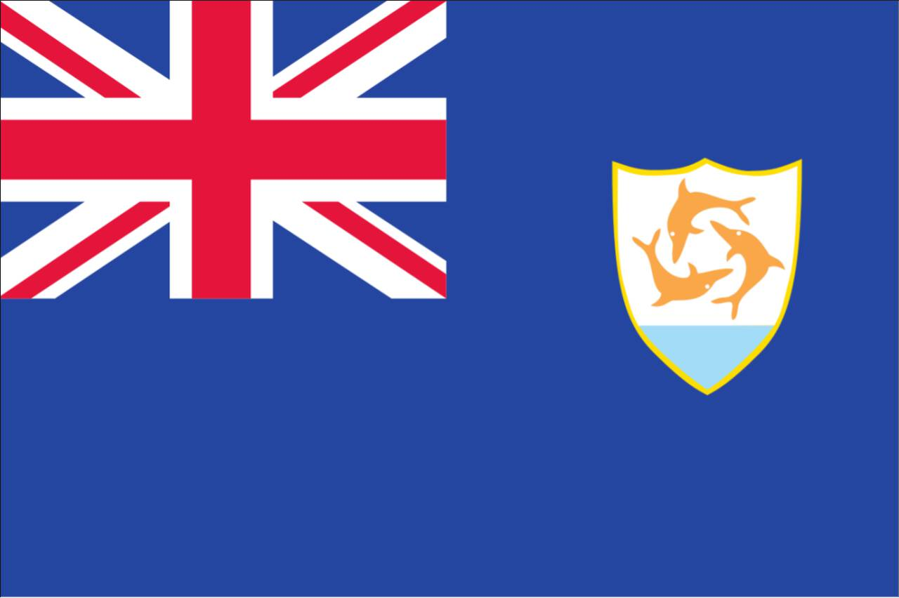 Flagge Anguilla 160 g/m² Querformat