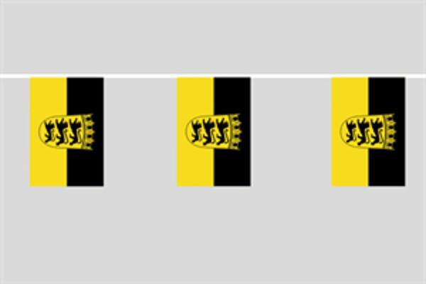 Flaggenkette Baden-Württemberg mit Wappen 6 m 8 Flaggen