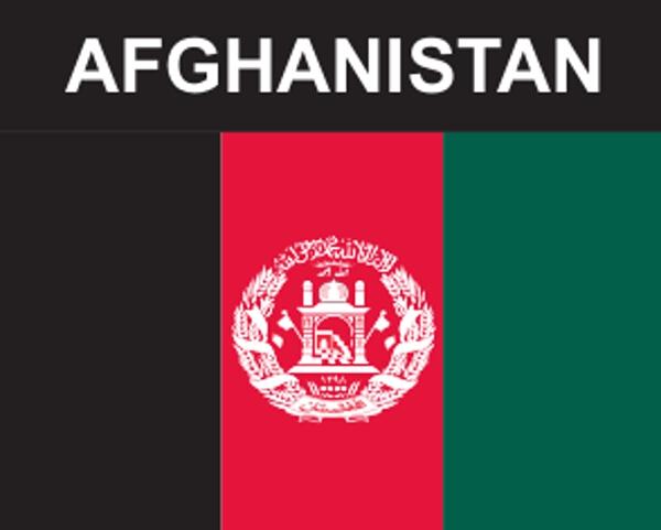 Flaggenaufkleber Afghanistan