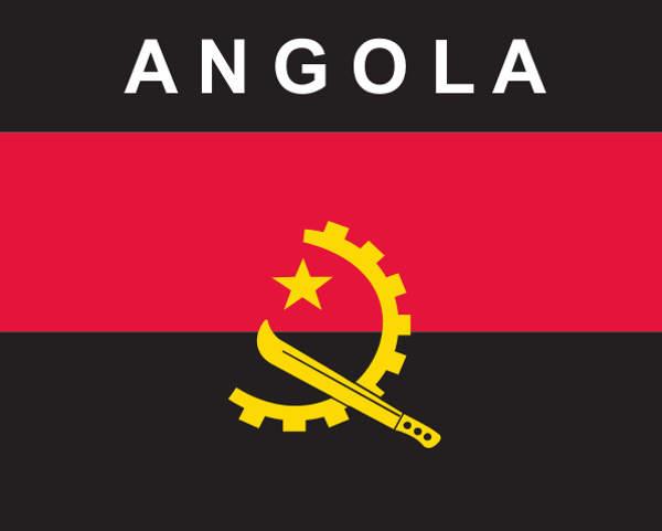 Flaggenaufkleber Angola