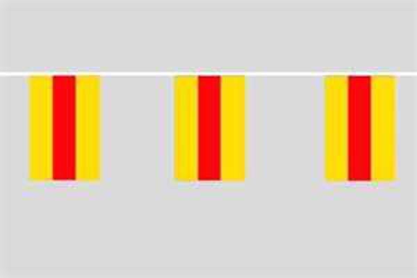 Flaggenkette Baden 6 m 8 Flaggen