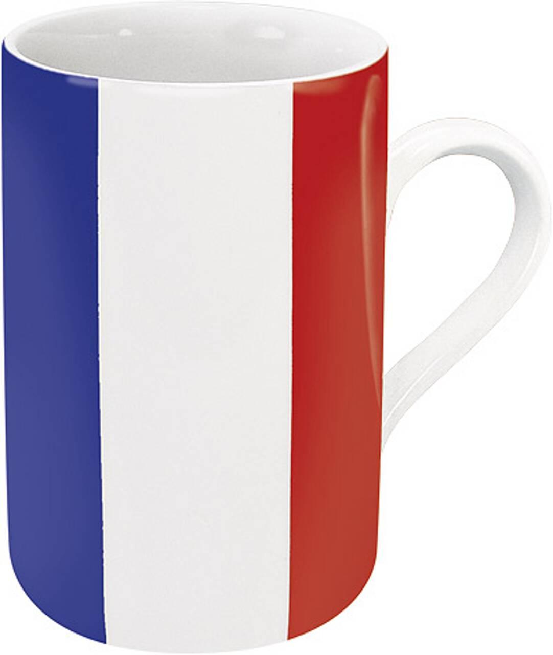Kaffeebecher mit Motiv Frankreichflagge