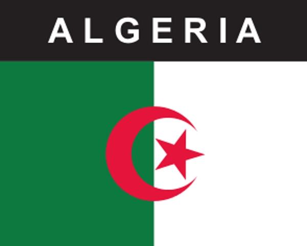 Flaggenaufkleber Algerien