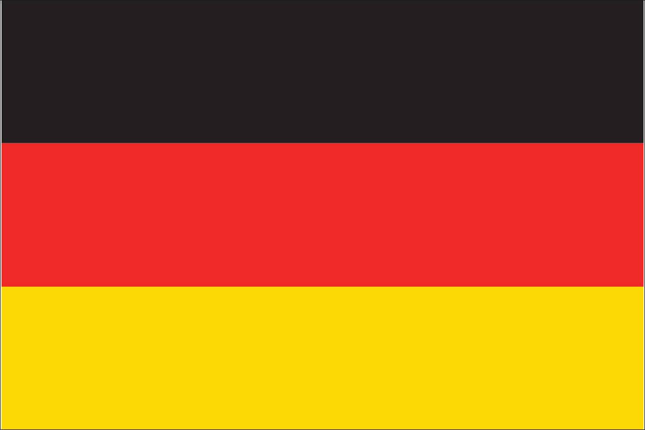 Flagge Deutschland 110 g/m² Querformat