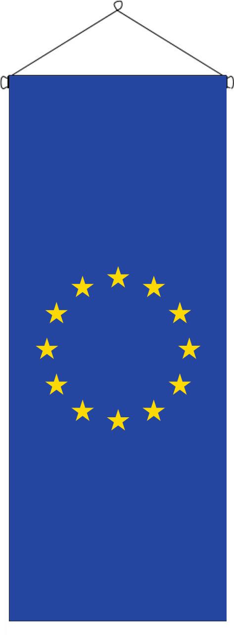 Flaggenbanner Europa 160 g/m² Hochformat