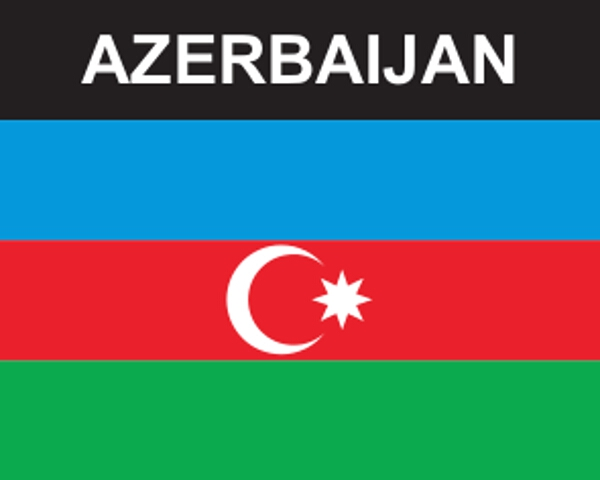 Flaggenaufkleber Aserbaidschan