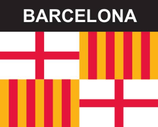 Flaggenaufkleber Barcelona