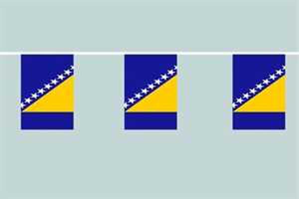 Flaggenkette Bosnien-Herzegowina 6 m 8 Flaggen
