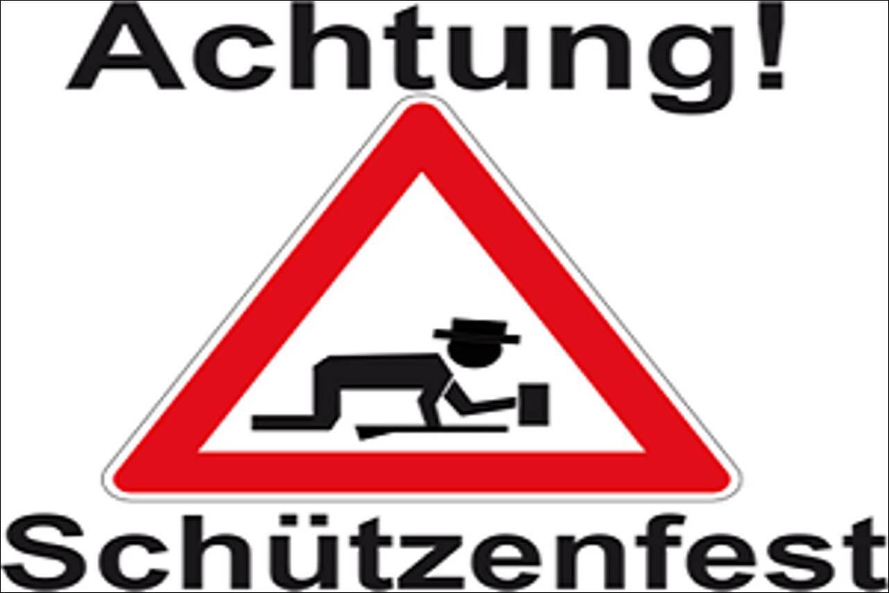 Flagge Achtung Schützenfest 80 g/m²